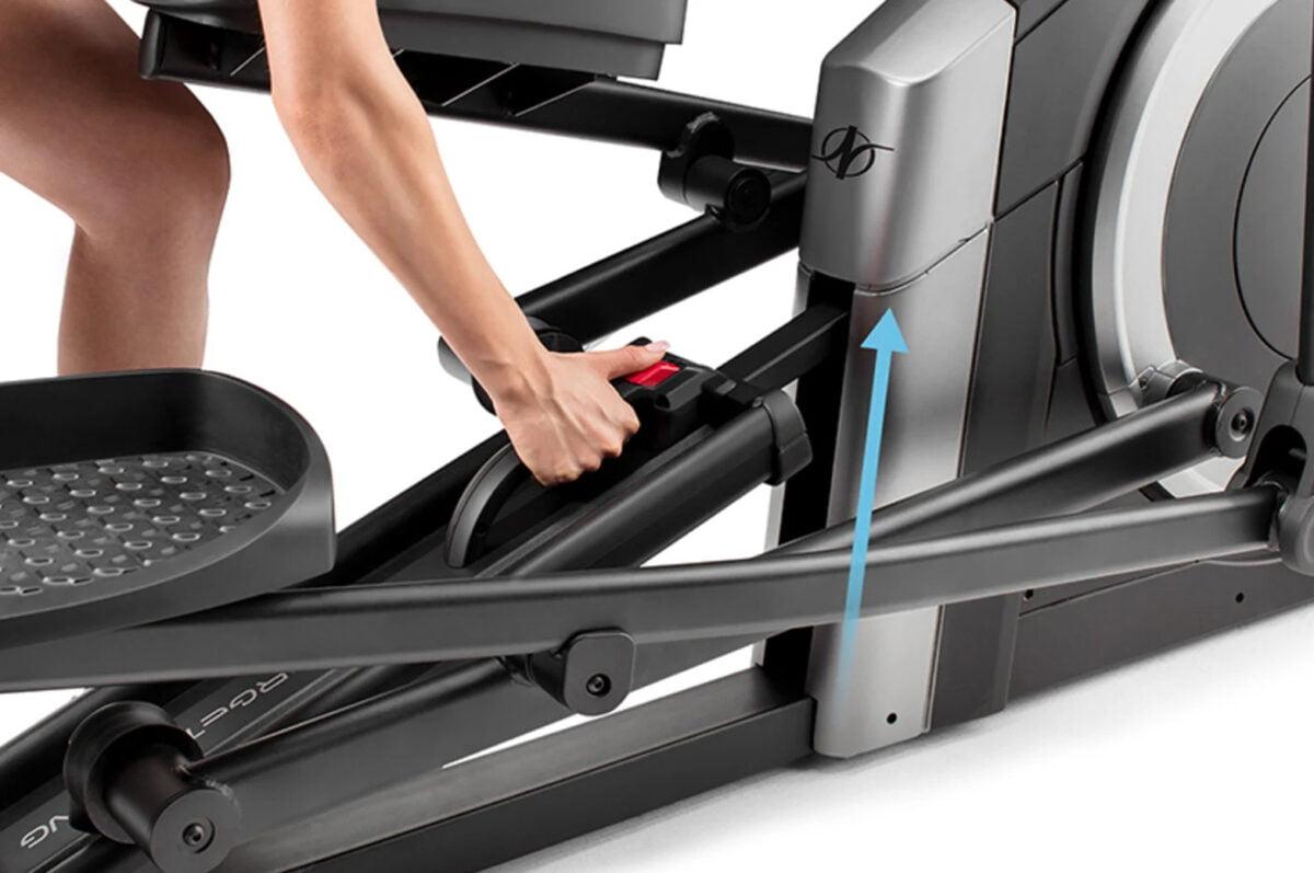 Manually adjusting NordicTrack C 5.5 Elliptical Machine
