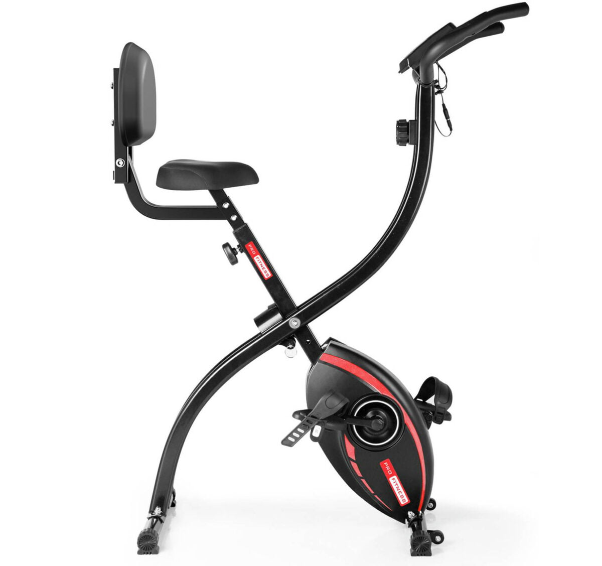 Black and Red Pro Fitness FEB2000 Folding Exercise Bike
