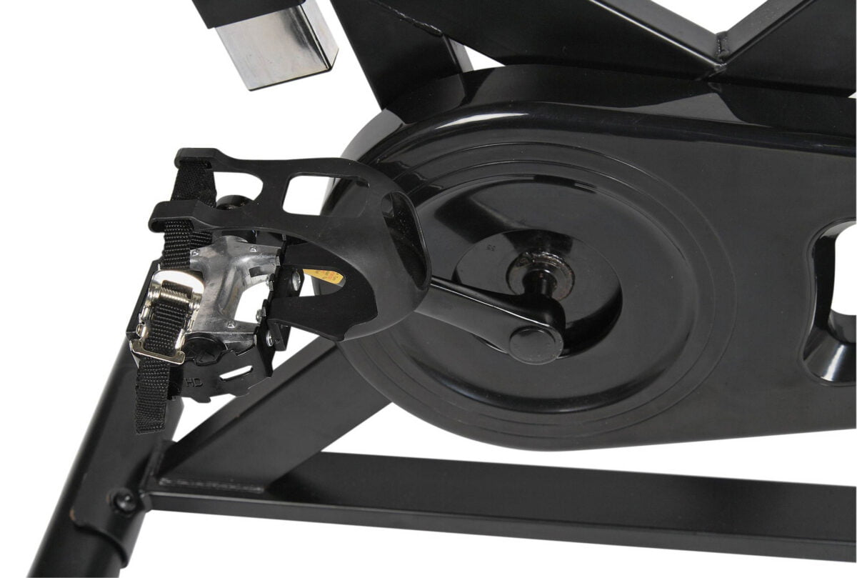 Close up foot strao Opti Aerobic Manual Exercise Bike pedals
