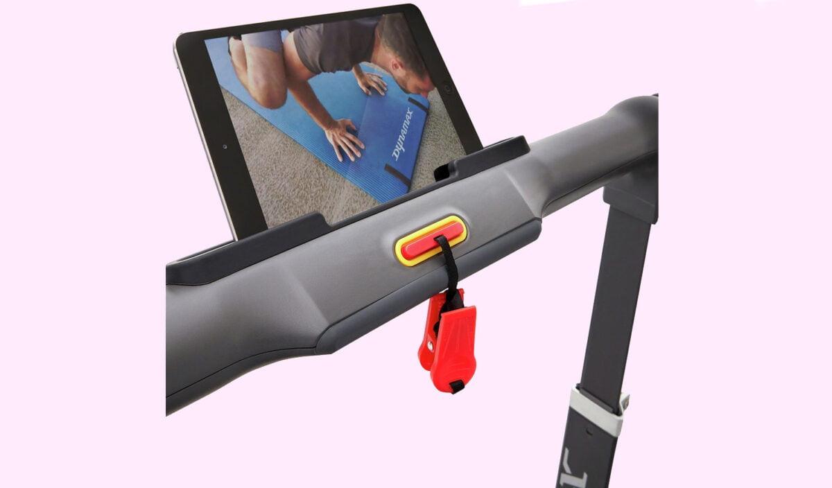 Dynamax Folding Treadmill ipad display while running
