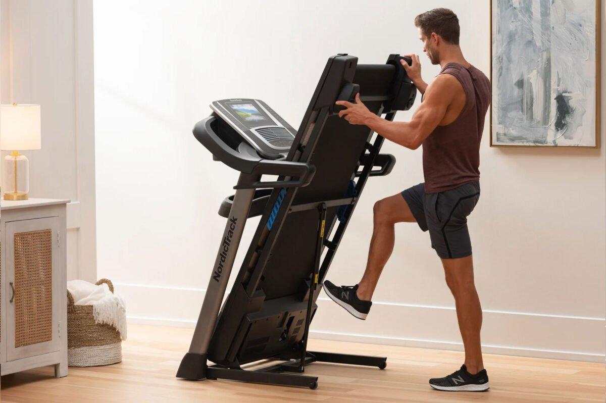Folding Away NordicTrack S 45i Treadmill