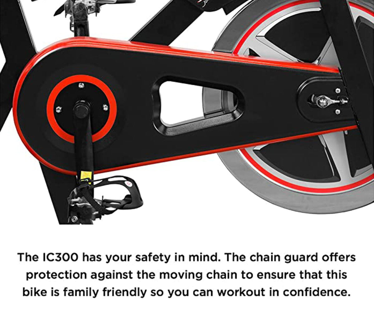 JLL IC300 Indoor Exercise Bike pedals and wheels
