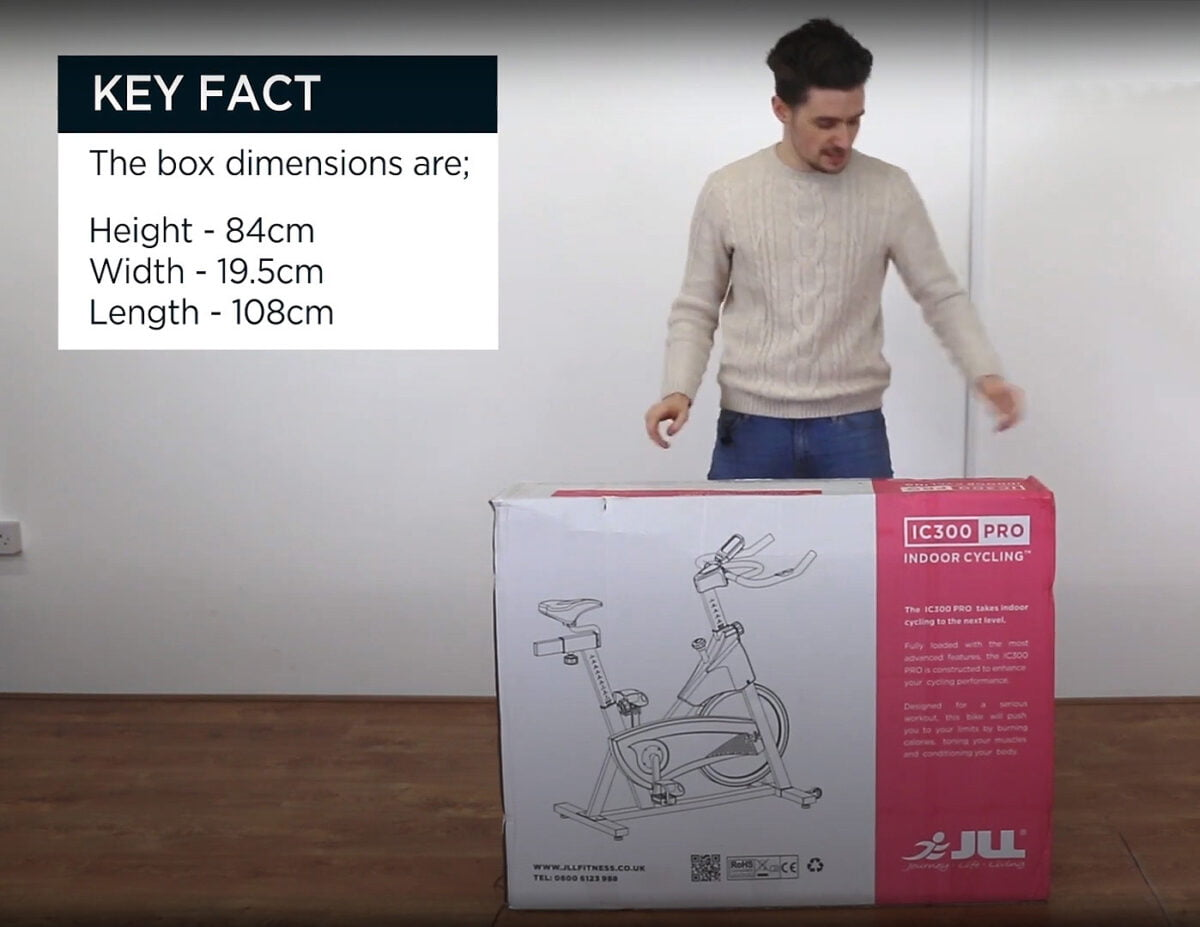 JLL IC300 Indoor Exercise Bike unboxing ready to put together