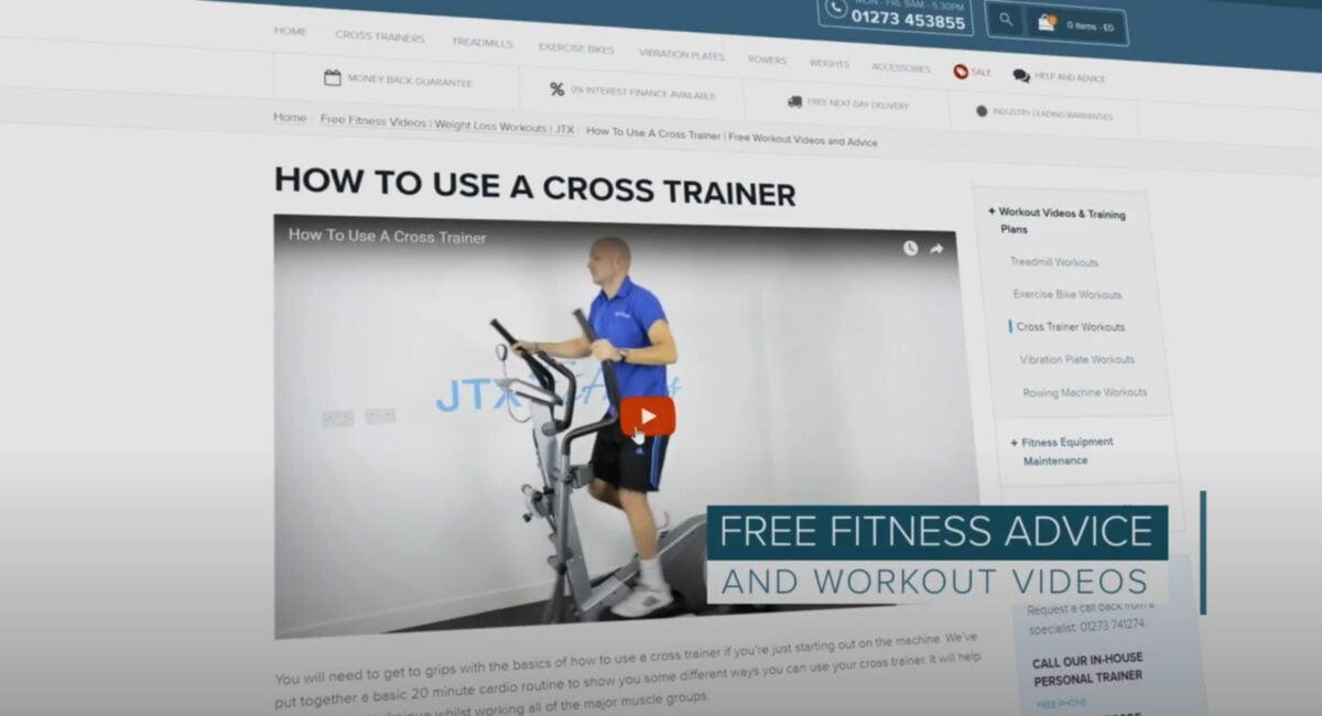 JTX Strider X7 Home Cross Trainer Free workout Videos