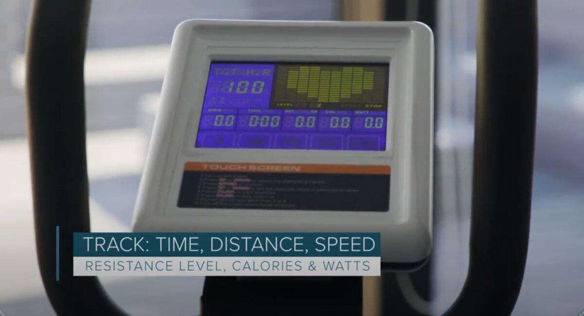 JTX Strider X7 Home Cross Trainer LCD panel