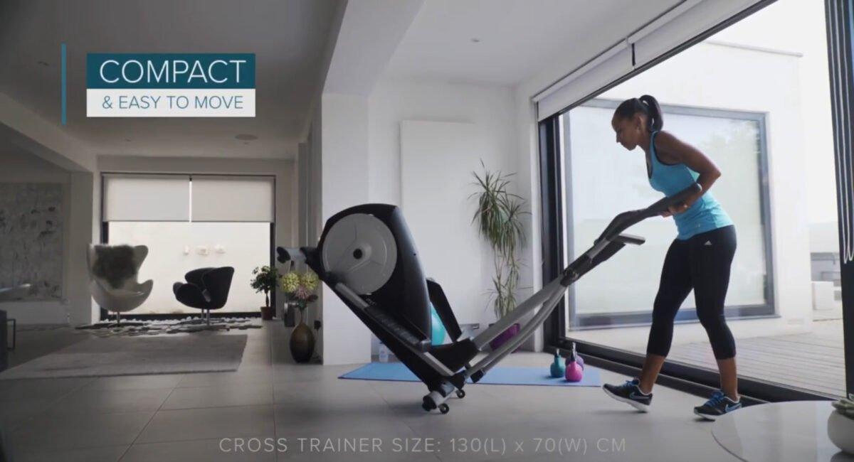 JTX Strider X7 Home Cross Trainer move on wheels