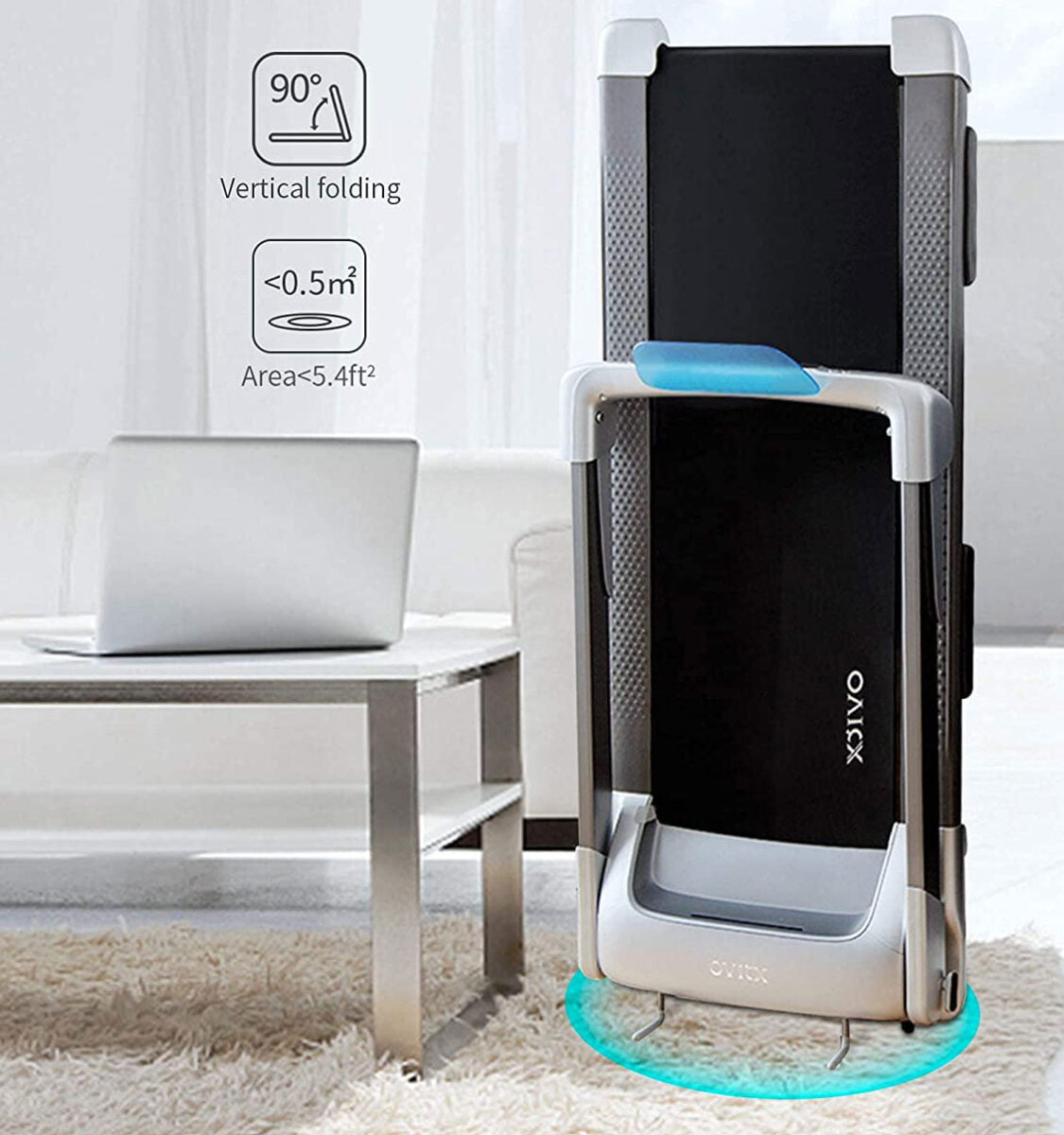 OVICX Q2S Folded Against Wall For Storage