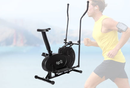 Opti 2-in-1 Air Cross Trainer and Exercise Bike review and where to find at the cheapest price