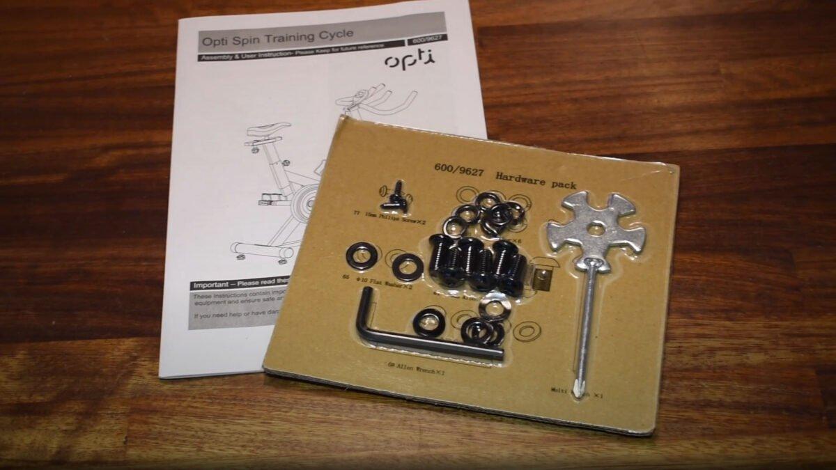 Opti Aerobic manual bike included items