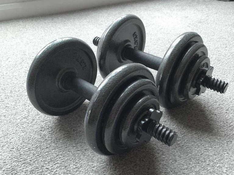 Best price for the Opti Cast Iron Dumbbell Set 20kg best price