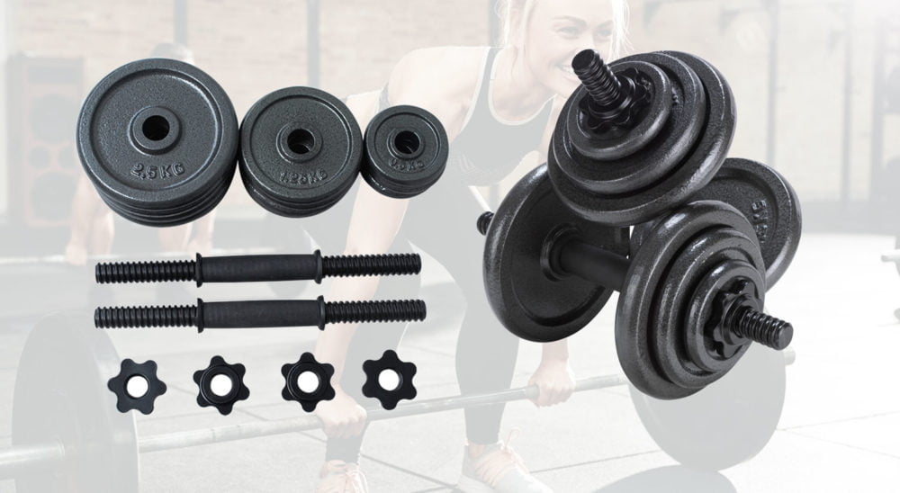 Opti Cast Iron Dumbbell Set 20kg best uk price and review
