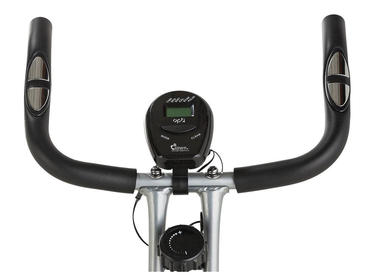 Opti bike handle bars and pulse sensor