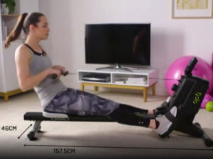 Women working out on the Opti magnetic rowing machine