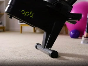 Opti magnetic rowing machine move on wheels
