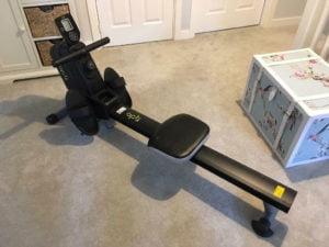 Opti magnetic rowing machine setup
