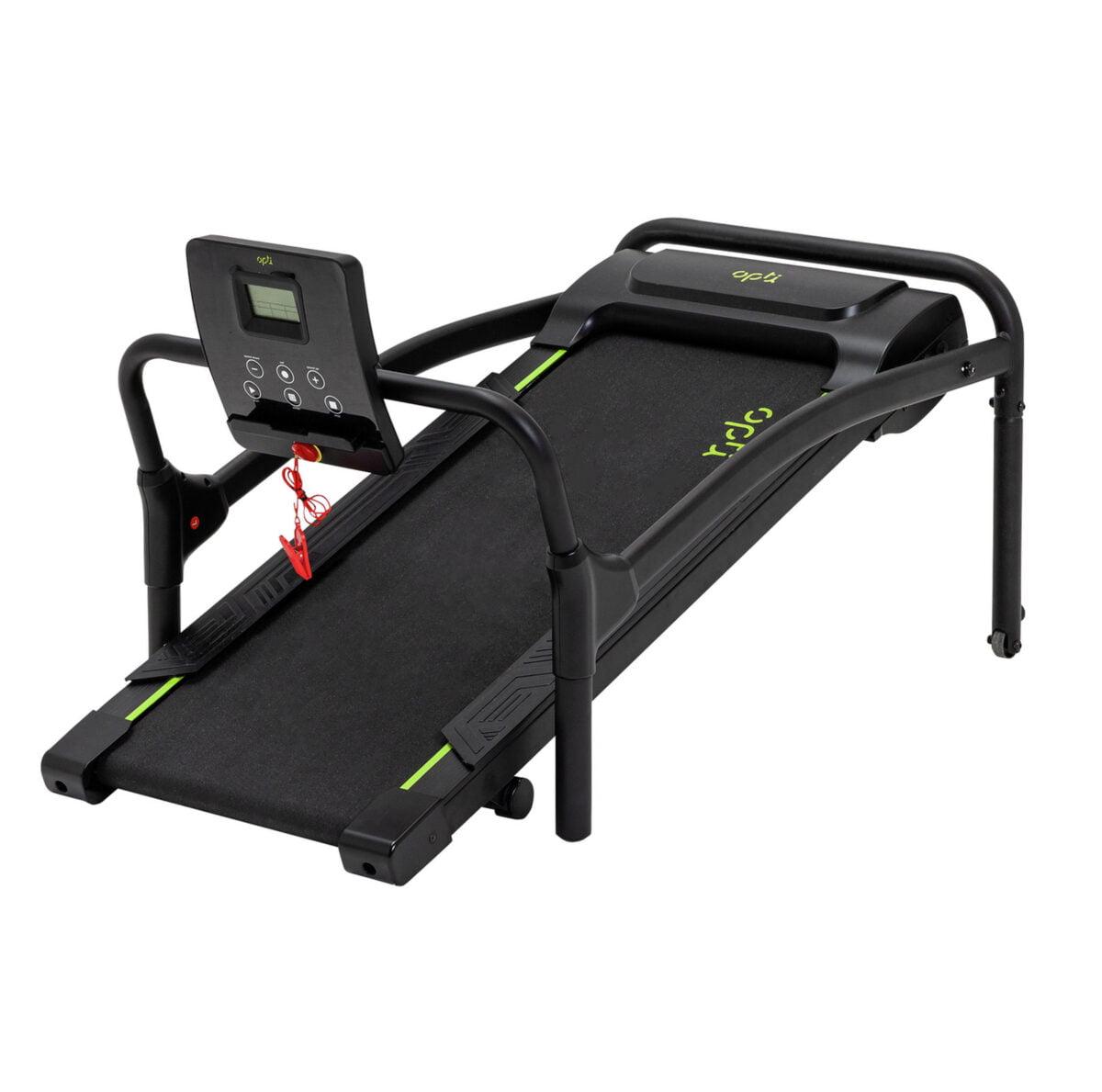 Opti Motorised Walking Treadmill folded away