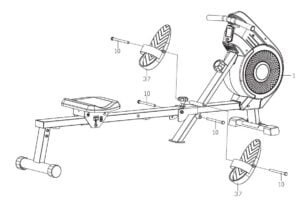 PDF Manual Pro Fitness Air and Magnetic Rowing Machine
