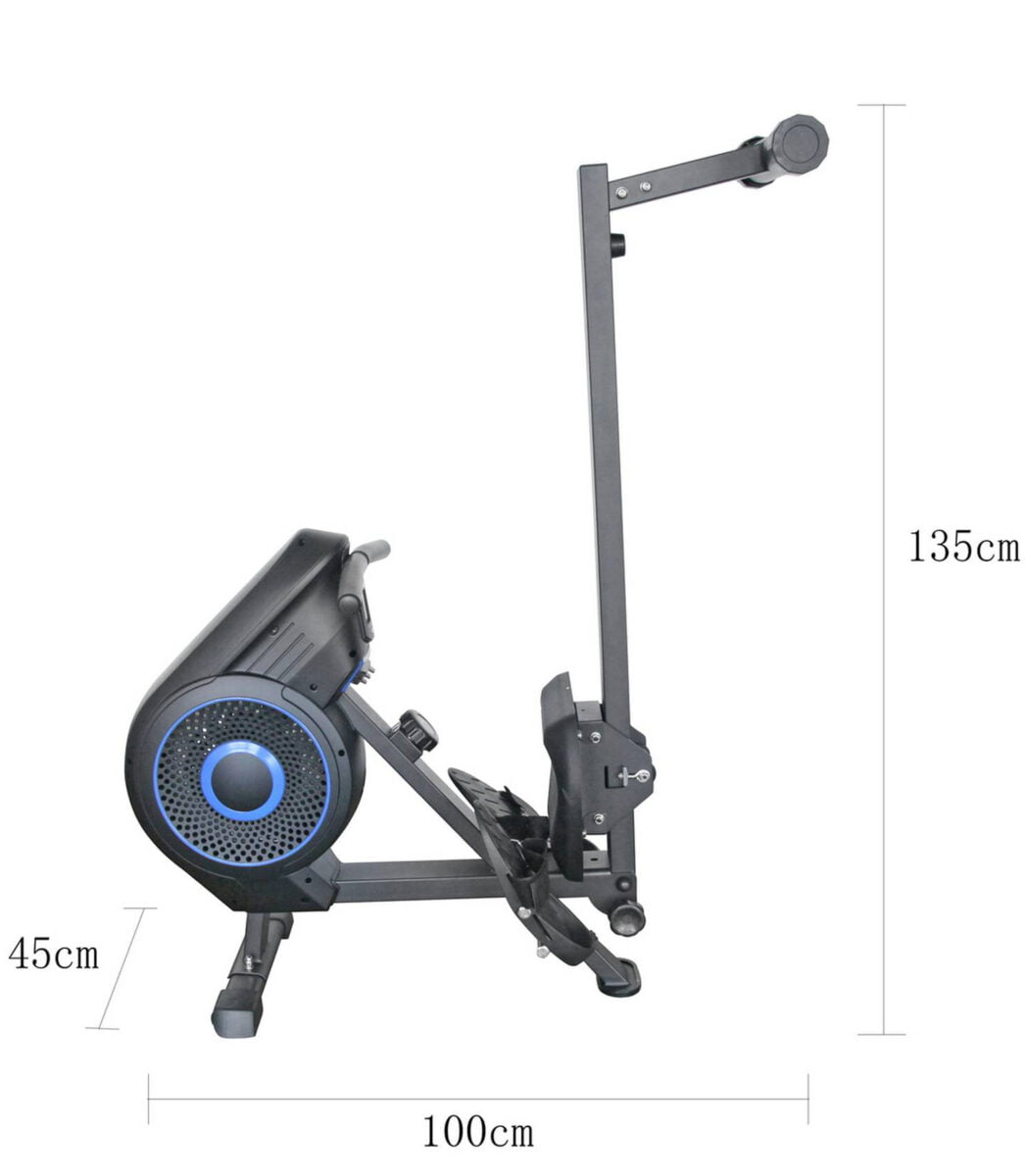 Pro Fitness Air and Magnetic Rowing Machine Folded for Storage