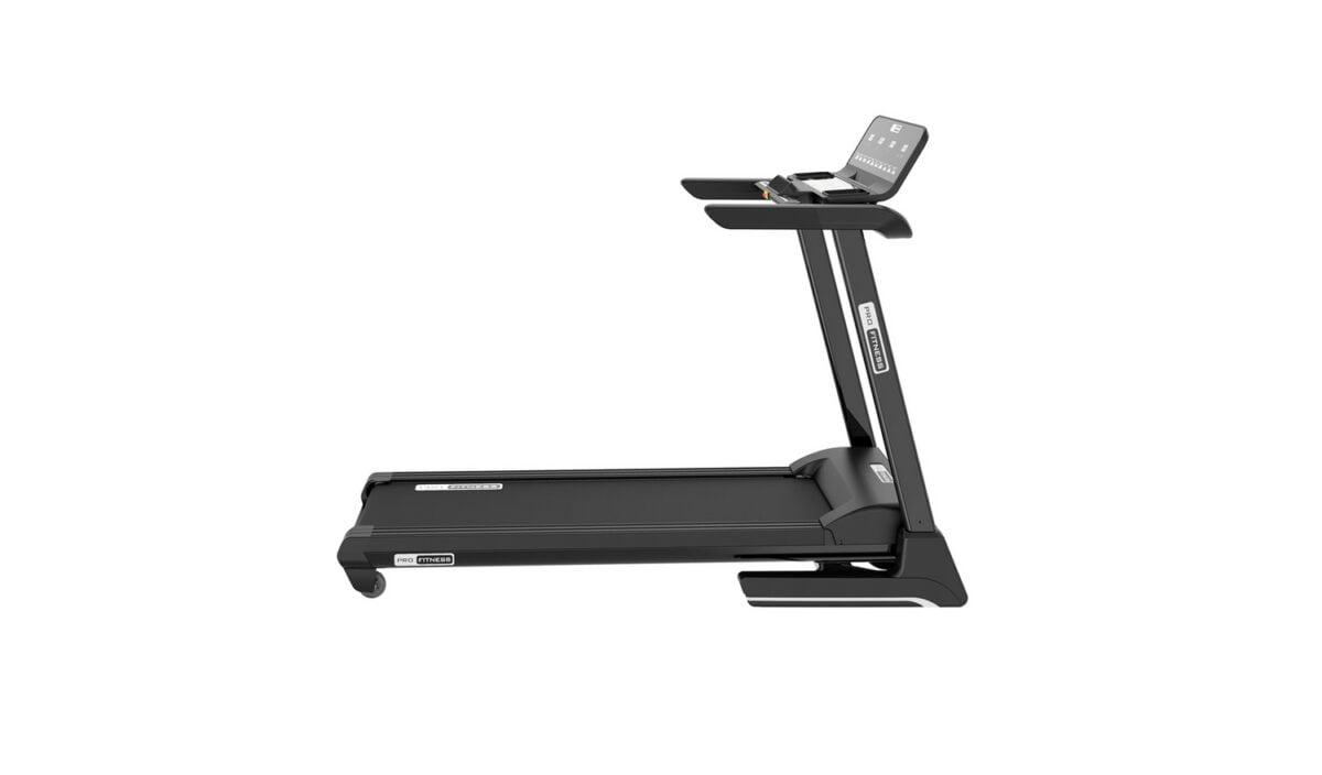 Pro Fitness T1000 Folding Treadmill side view in black