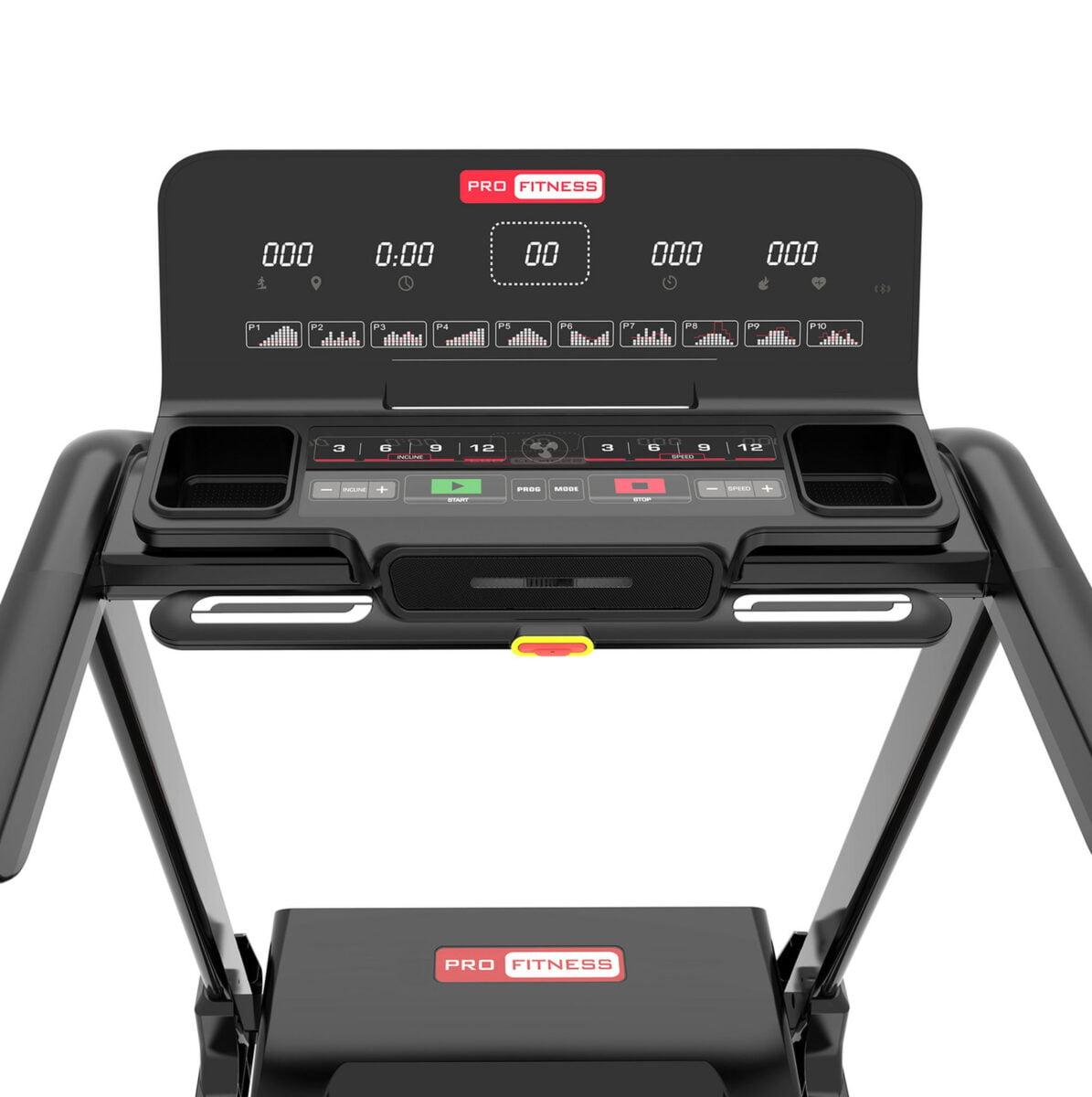 Pro Fitness T2000 Folding Treadmil LCD Screen