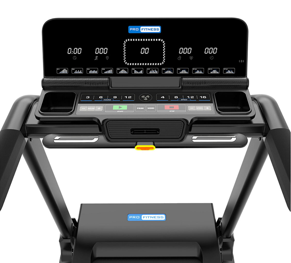 Pro Fitness T3000 Folding Treadmill LCD screen and buttons