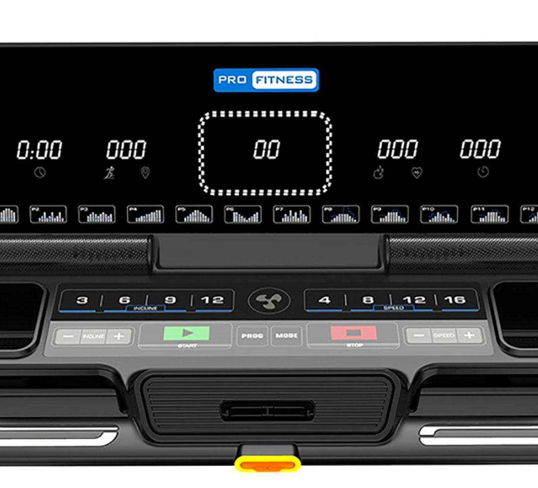 Pro Fitness T3000 LCD and buttons close up