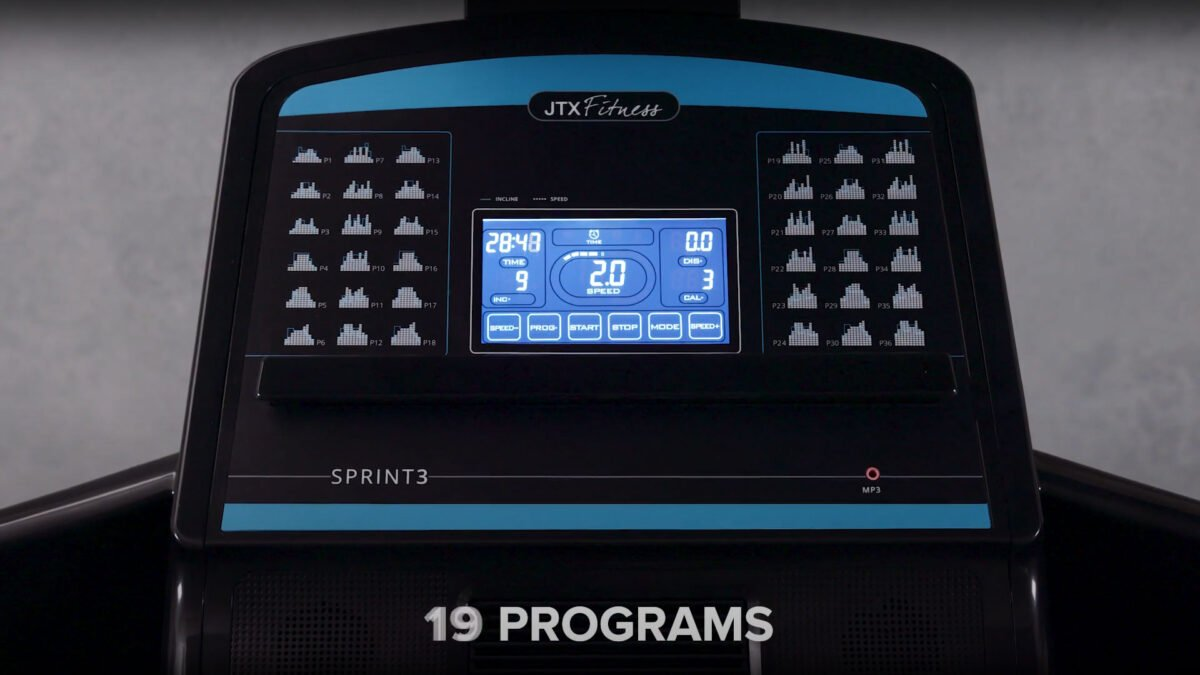 Programs and features for JTX Sprint 3 Treadmill