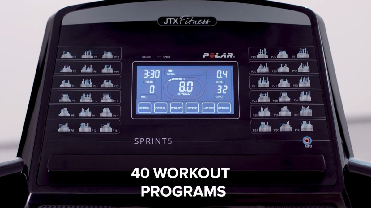 Programs and features for JTX Sprint 5 Home Treadmill