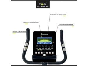 Reebok zr8 display features