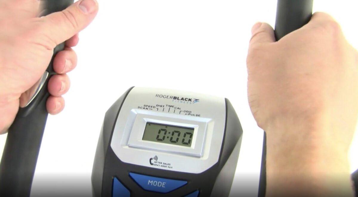 Roger Black 2 in 1 hand grip heart rate sensor