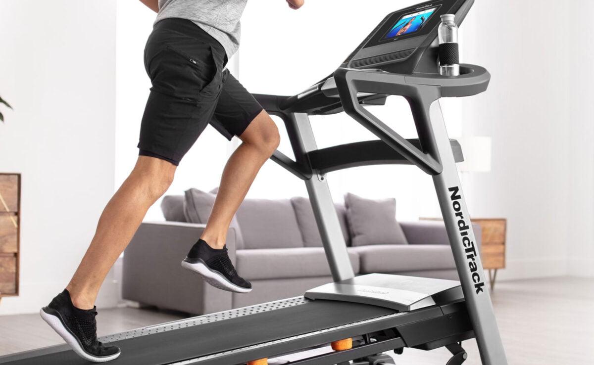 Man Running on NordicTrack T8.5s Treadmill