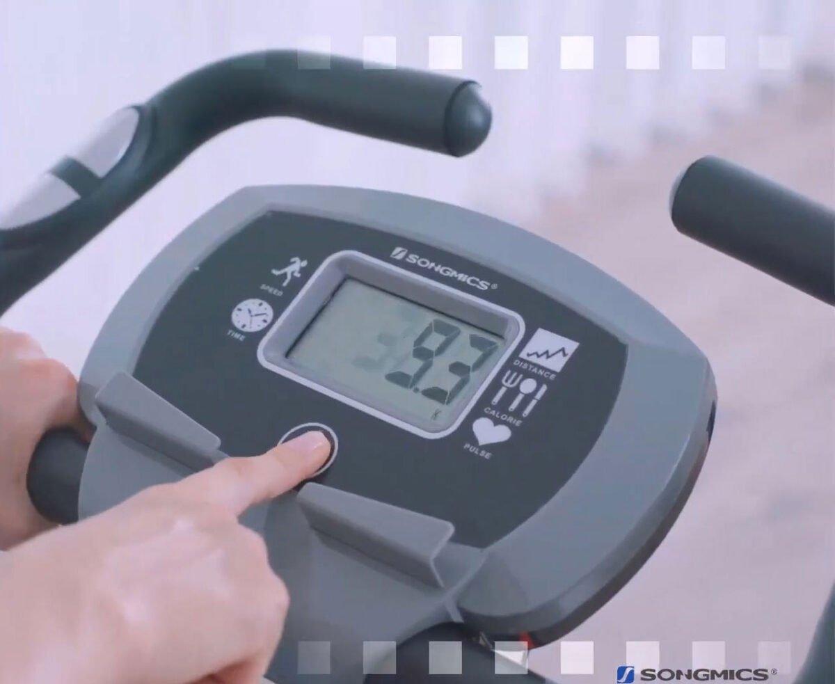 SONGMICS Exercise Bike LED Display and settings