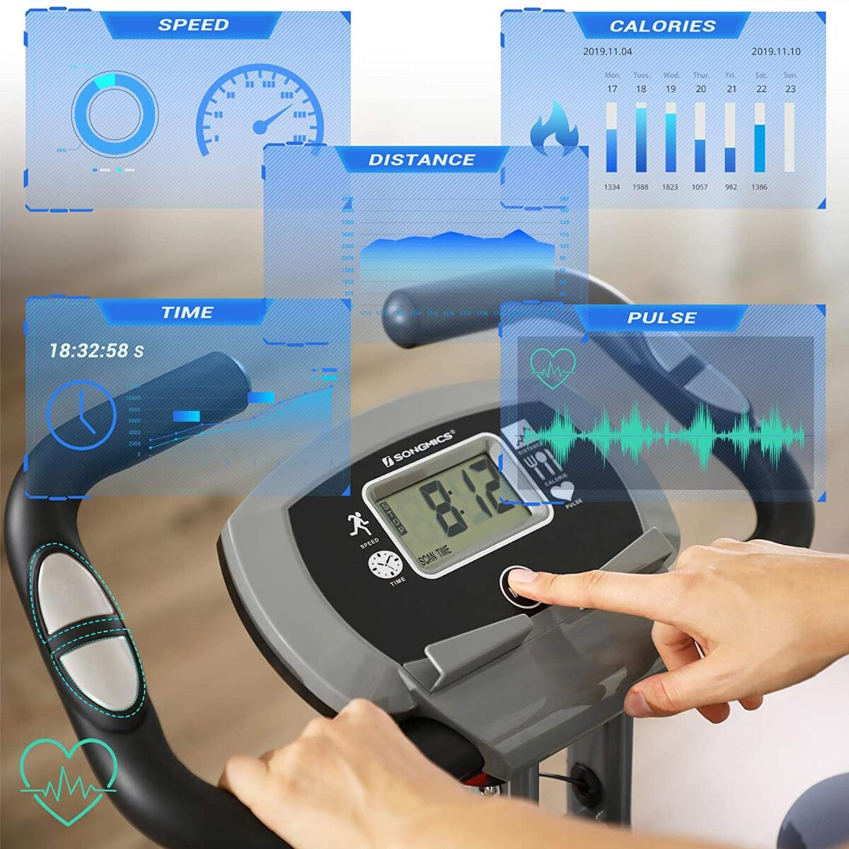 SONGMICS Exercise Bike Programs and features