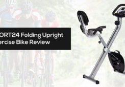SPORT24 Folding Foldable Upright Exercise Bike Review and best price