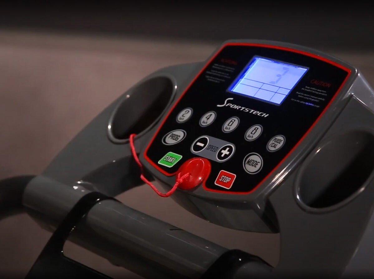 Sportstech F10 Treadmill Model 2020 Review LCD panel
