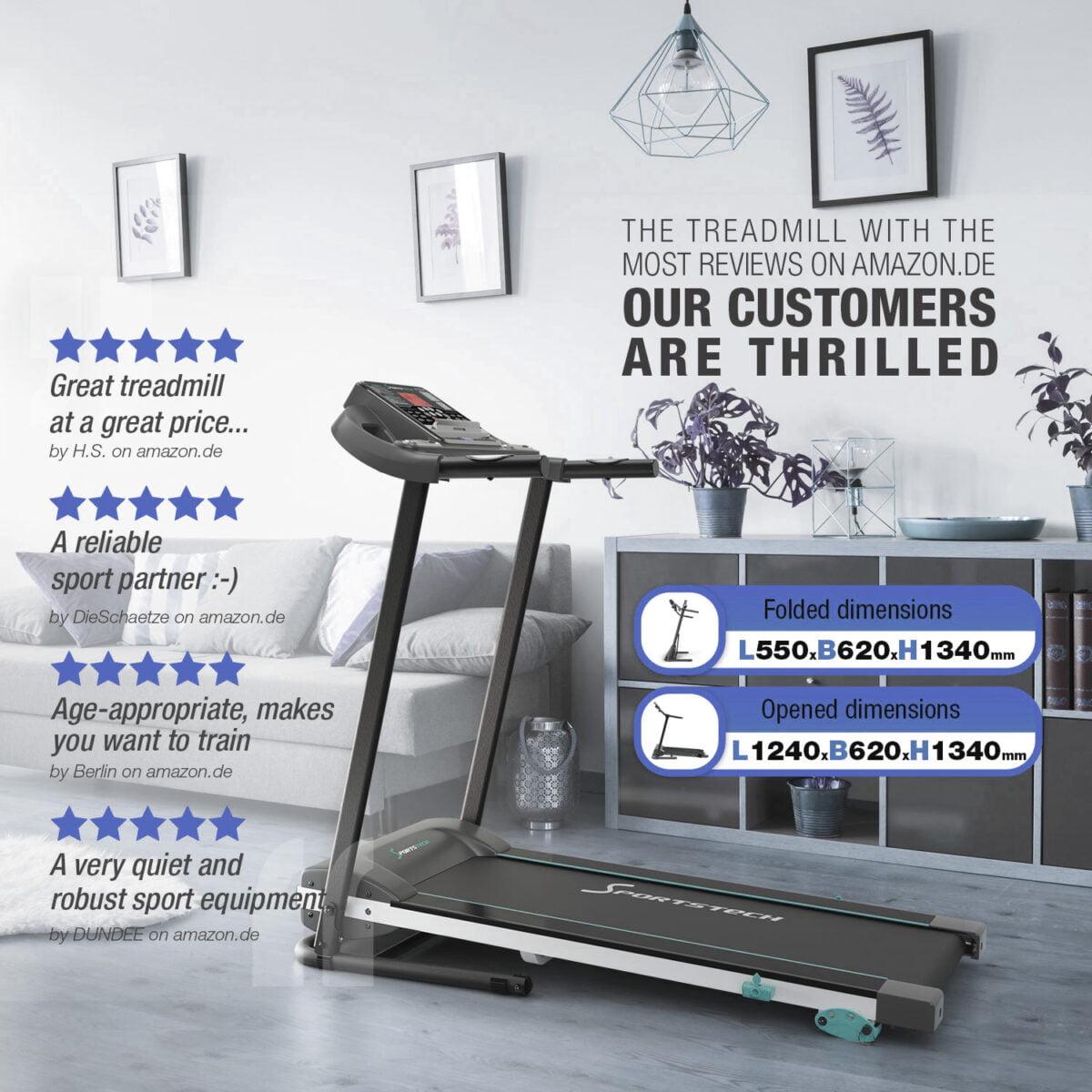 Sportstech F10 Treadmill Model 2020 features voucher code