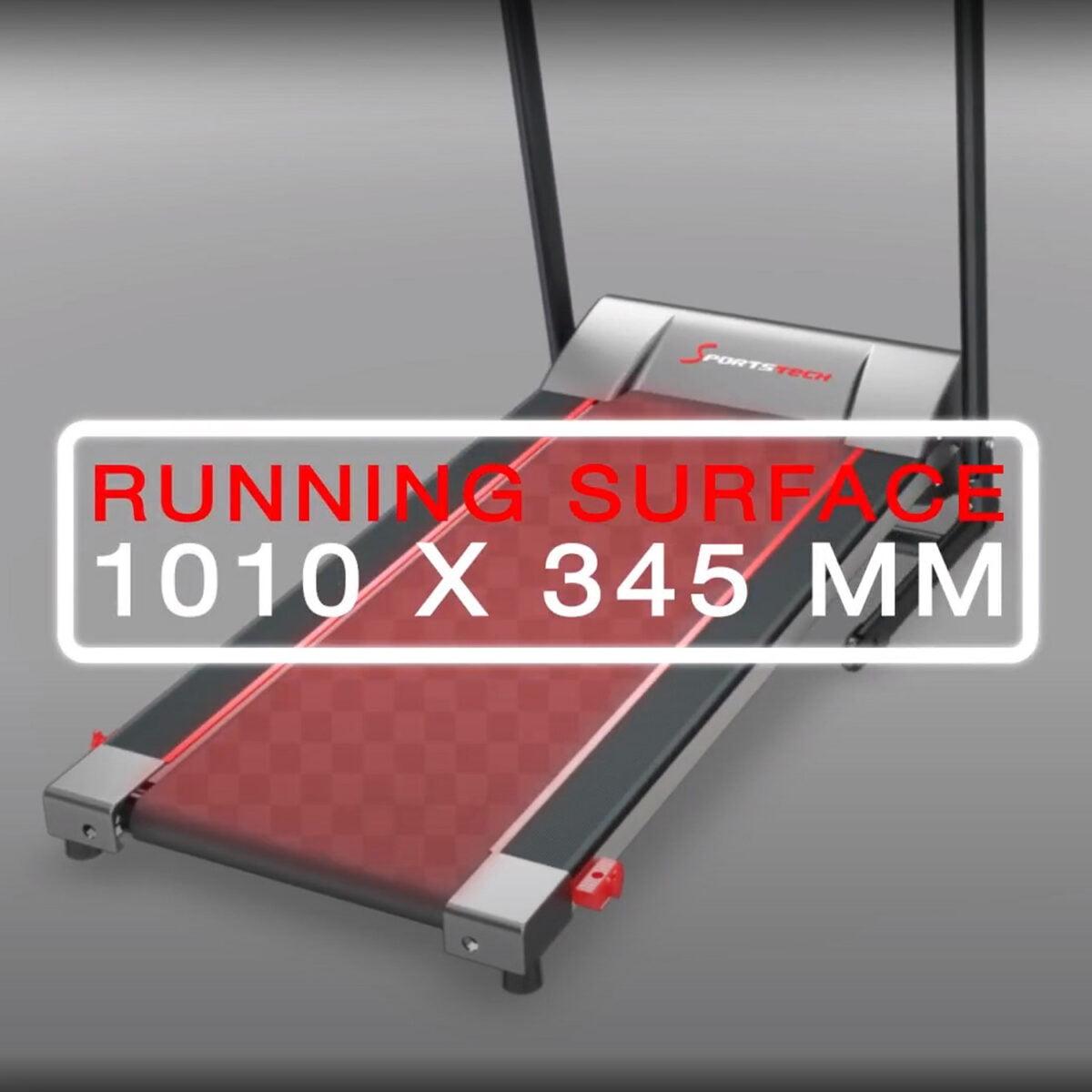 Sportstech F10 Treadmill running track dimensions