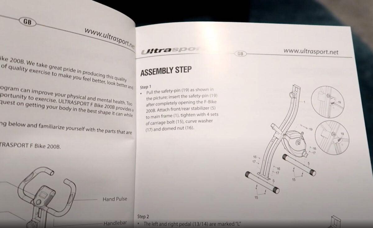 Ultrasport F Bike Fitness Bike instruction user manual