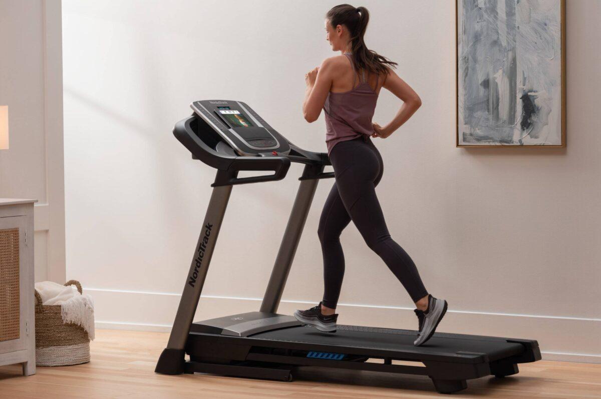Women running on NordicTrack S 20i Treadmill