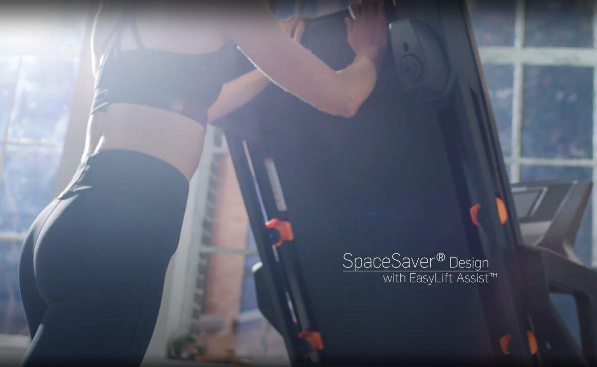 Women using soft drop NordicTrack T8.5s Treadmill