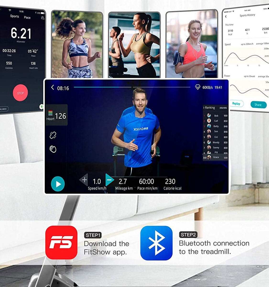 Workout series for the OVICX Q2S Folding Portable Treadmill Review