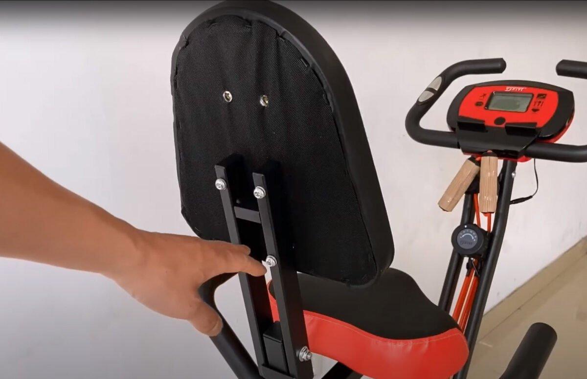 YYFITT 2 in 1 Foldable Fitness Exercise Bike seat instructions