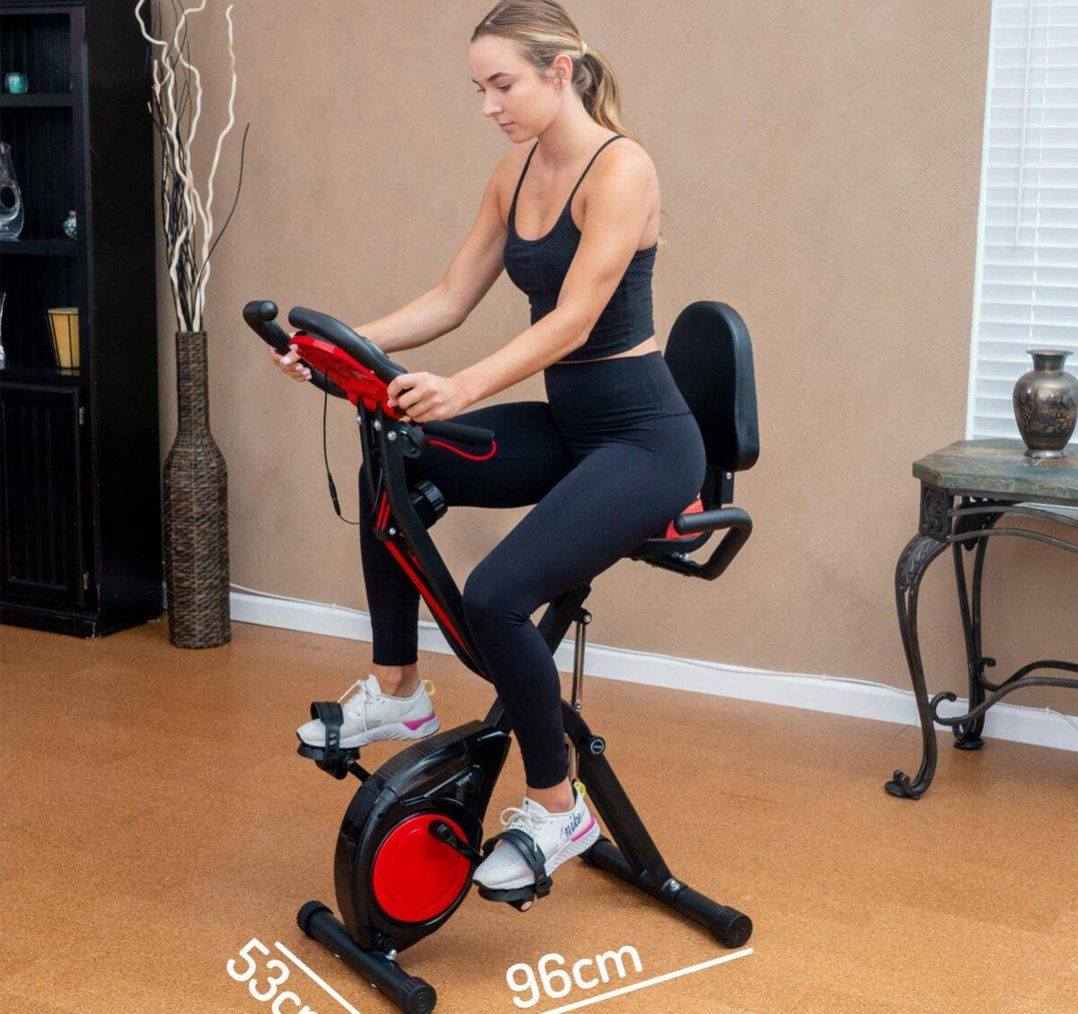 YYFITT 2 in 1 Foldable Fitness Exercise Bike women cycling comparison