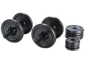 Buy the Opti Cast Iron Dumbbell Set for the cheapest price
