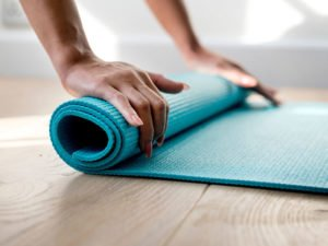 workout at home - fitness mat