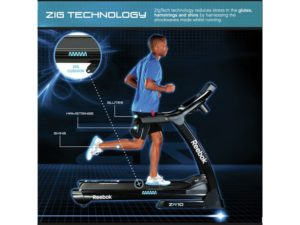 Man running on Reebok ZR10 treadmill