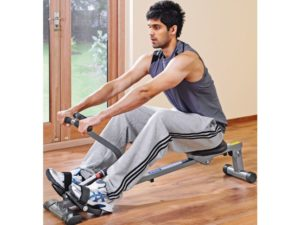 using the pro fitness rowing machine