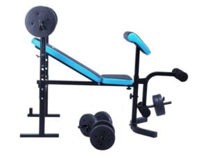 Side view of Men's Health workout bench