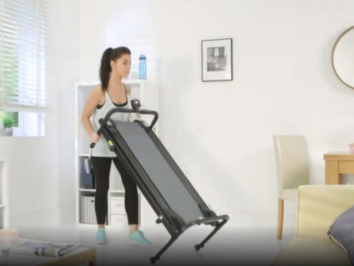 Opti non-motorised women putting away after workout