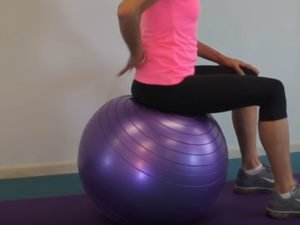 Purple Opti Gym ball workout
